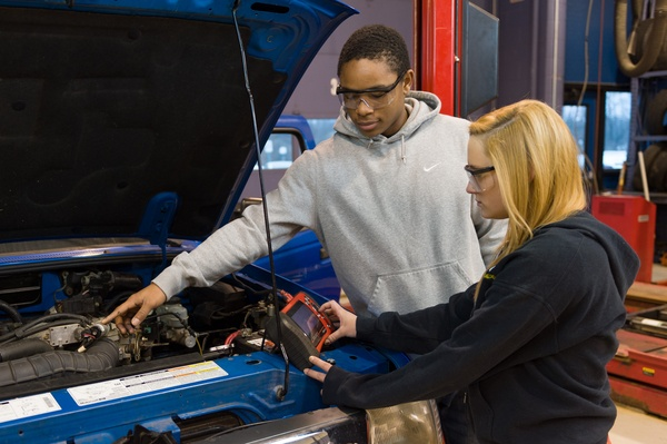 Automotive career pathway students