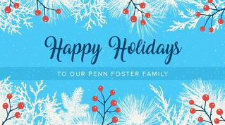 Happy Holidays from the Penn Foster Team!