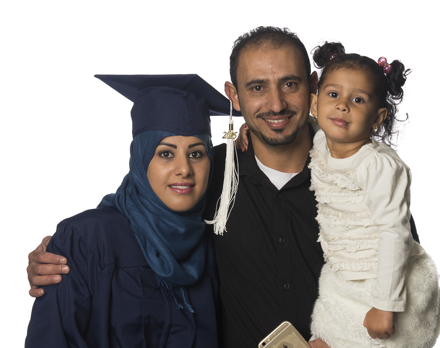 Penn Foster graduate and family
