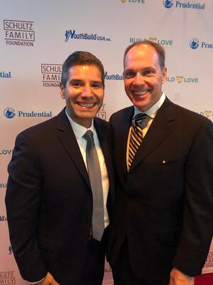 John Valverde (left), CEO of YouthBuild, and Frank Britt, CEO of Penn Foster