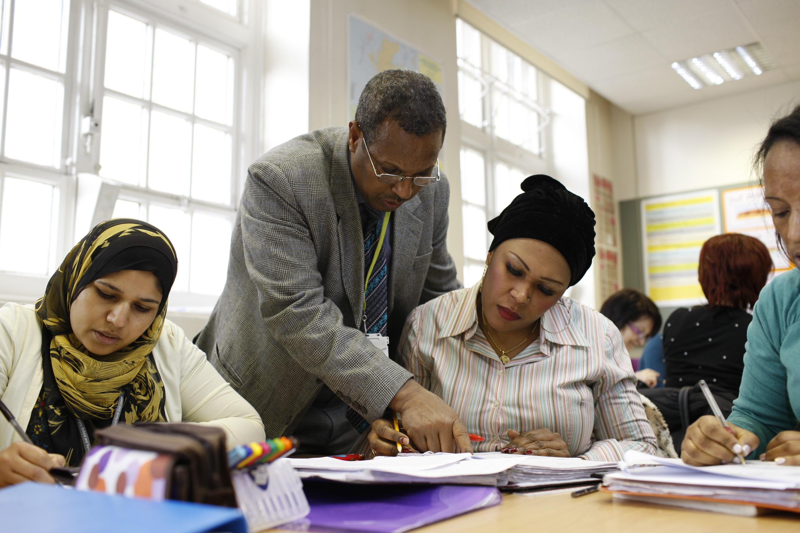 Adult Learners Classroom