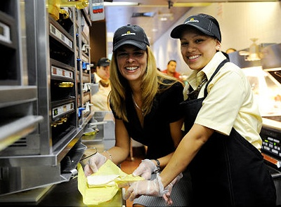 Food Service Manager and Employee