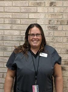 Veterinary technician Melissa H.